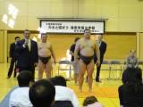 """錣山親方と日本の国技""""相撲""""に親しむ"""