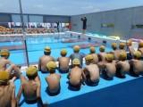 水泳の授業開始、最高の笑顔