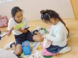 幼稚園年長と小5の交流ランチ