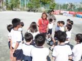 サッカー元日本代表・北澤豪さんによるスポーツ教室開催