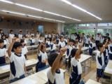 1・2年生と6年の関係 ~応援練習~