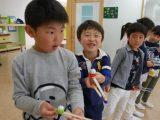 【お預りイベント】ホイル玉飛ばし!新1年生の取りくみ